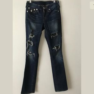 True Religion Jeans World Tour Slim Straight Sz 26